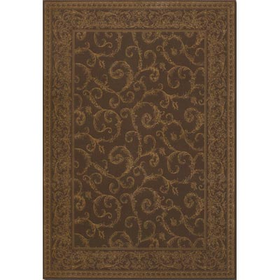 Couristan Baroque 7 x 10 Darcy Scroll Cocoa 1121/1021