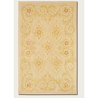 Couristan Botanics 2 x 8 Runner Marguerite Antique Linen 6650/6053