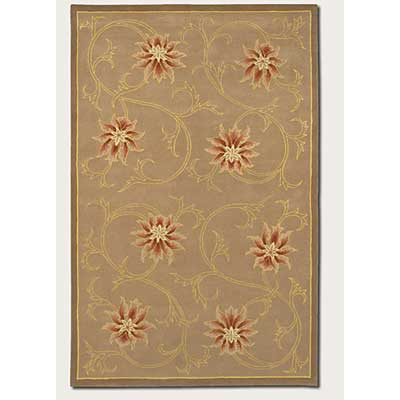 Couristan Botanics 3 x 5 Soliel Rust Gold 6650/0030