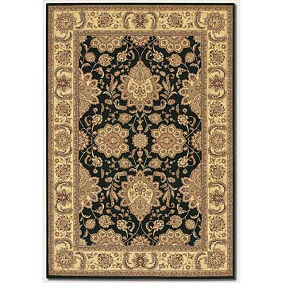 Couristan Chanterelle 8 x 11 Antique Ispaghan Black 1720/0004