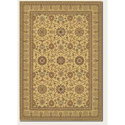 Couristan Chanterelle 8 x 11 Garden Tabriz Antique Creme 1719/0001