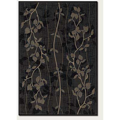 Couristan Charisma 4 x 5 Ivy Leaf Black 4358/0008