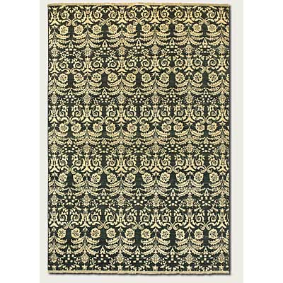 Couristan Chobi 8 x 11 All Over Damask Black Ivory 3338/1228