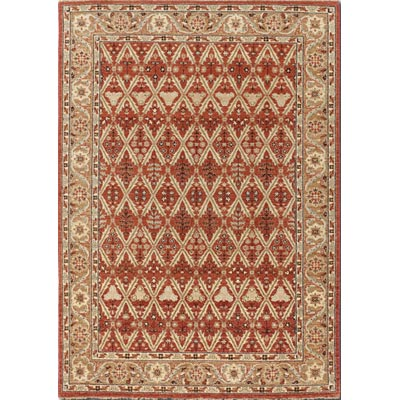Couristan Chobi 8 x 11 Persian Trellis Burnished Rust Ivory 3352/0100