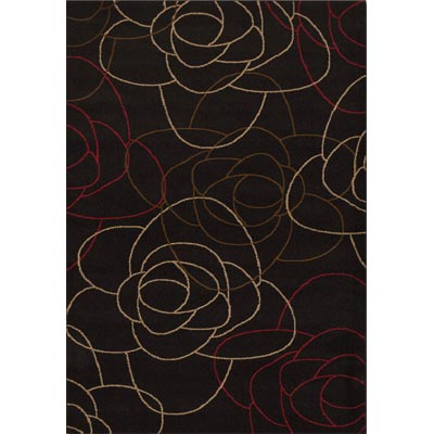 Couristan Contempo 8 x 11 Abstract Rose Charcoal 2065/0065