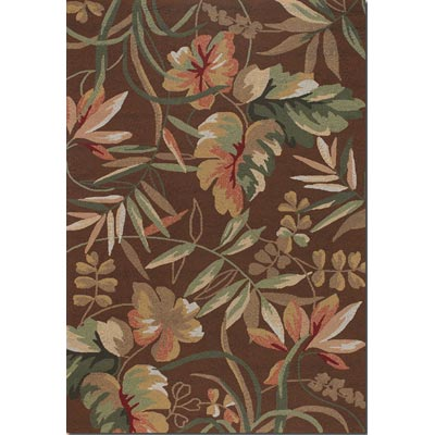 Couristan Covington 8 x 11 Boca Retreat Light Cocoa Fern 2166/8066