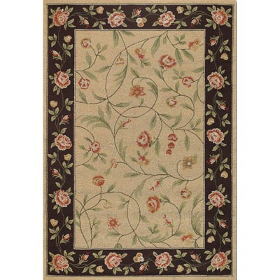 Couristan Covington 4 x 6 Catesby Garden Ivory Black 2176/0760
