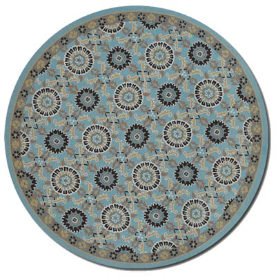 Couristan Covington 8 Round Suncrest Azure Multi 2109/1095