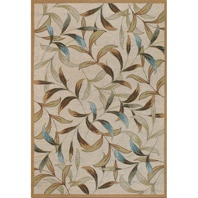 Couristan Covington 4 x 6 Spring Vista Neutrals Blue 2104/1040