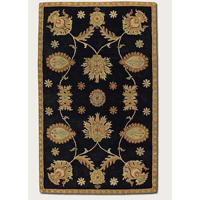 Couristan Dynasty 3 x 4 All Over Persian Vine Black 9103/0103
