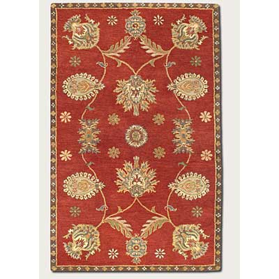 Couristan Dynasty 5 x 8 All Over Persian Vine Red 9103/0104