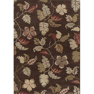 Couristan Dynasty 5 x 8 Lotus Leaf Mocha 9107/0108