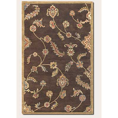 Couristan Dynasty 5 x 8 Persian Garland Brown 9105/0105
