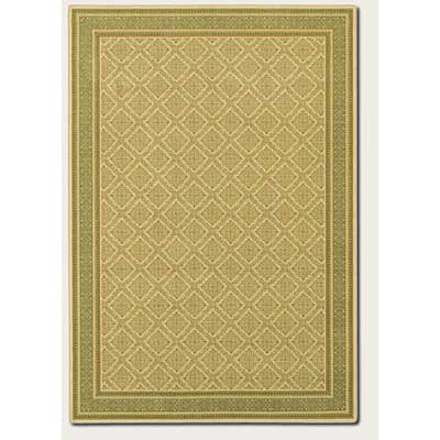 Couristan English Manor 8 x 11 Manchester Ivory Green 3229/0003