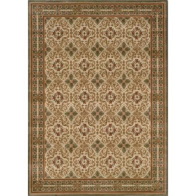Couristan Everest 8 Round Acanthus Scroll Panel Sage 3796/5908