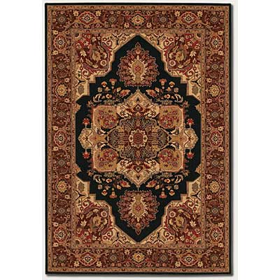 Couristan Everest 5 x 8 Antique Sarouk Black 2829/5123