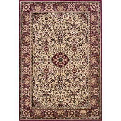 Couristan Everest 8 x 11 Oval Ardebil Ivory Red 3760/6004