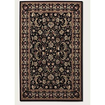 Couristan Everest 2 x 8 Runner Bouquet Scroll Ebony 1433/9571