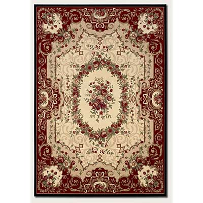 Couristan Everest 2 x 8 Runner Floral Savonnerie Burgundy Black 0795/5906