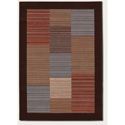 Couristan Everest 2 x 8 Runner Hamptons Multi Stripe Chocolate 0766/0685