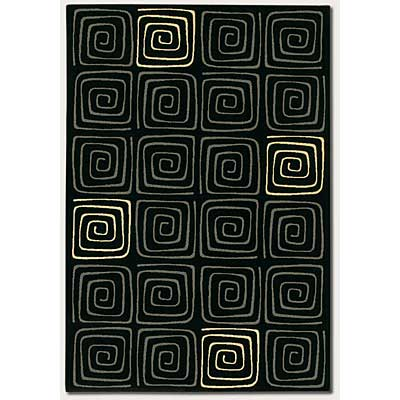 Couristan Everest 5 x 8 Labyrinth Black 2856/7259