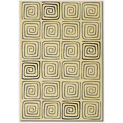 Couristan Everest 2 x 8 Runner Labyrinth Creme 2856/7165
