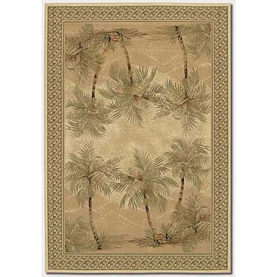 Couristan Everest 5 x 8 Palm Tree Desert Sand 2803/6387