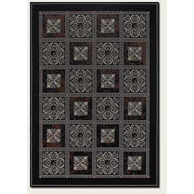 Couristan Everest 2 x 8 Runner Royal Panel Chocolate Ebony 1575/9882
