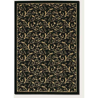 Couristan Everest 2 x 8 Runner Royal Scroll Ebony 2863/6214