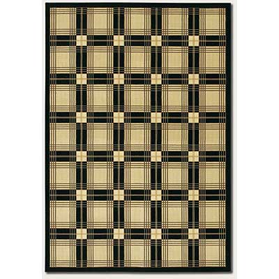 Couristan Everest 5 x 8 Royal Tartan Onyx Classic Ivory 2830/0504