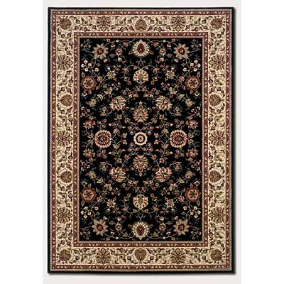Couristan Everest 5 x 8 Safavid Black 0557/5831