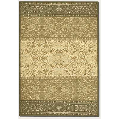 Couristan Everest 2 x 8 Runner Wrought Iron Scroll Classic Ivory Sage 0865/5857