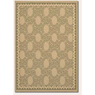 Couristan Five Seasons 9 x 13 Charleston Cream Green 3071/0114