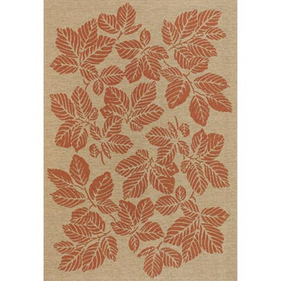 Couristan Five Seasons 9 x 13 Rio Mar Cream Terra Cotta 3079/0011