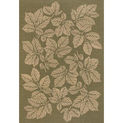 Couristan Five Seasons 9 x 13 Rio Mar Green Cream 3079/0024