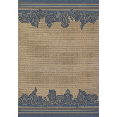 Couristan Five Seasons 9 x 13 Shoreline Cream Blue 3080/6813