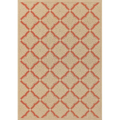 Couristan Five Seasons 9 x 13 Sorrento Cream Terra Cotta 3077/0011