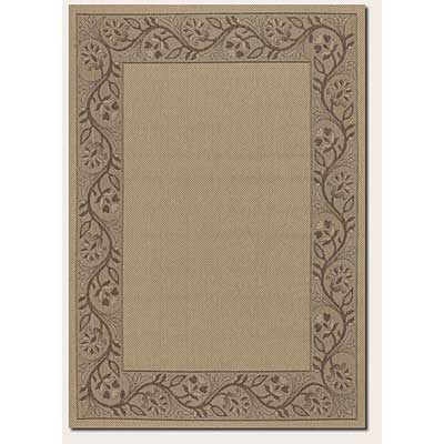 Couristan Five Seasons 4 x 5 Tuscana Cream Brown 0157/0012