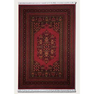 Couristan Gem 8 x 10 Multi Border Afghan Bordeaux 8567/1872