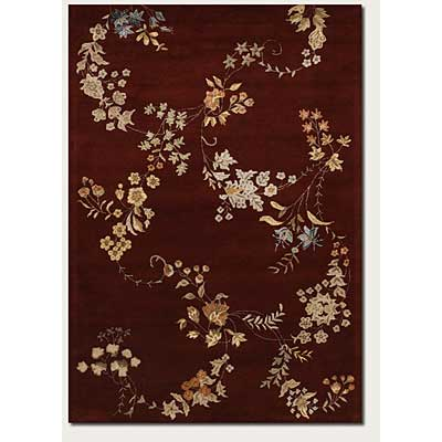 Couristan Givenry 8 x 11 Cherry Blossom Burgundy 1127/0007