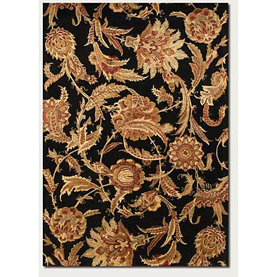 Couristan Givenry 8 x 11 Wild Orchids Black 0159/0123