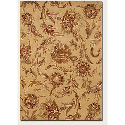 Couristan Givenry 8 x 11 Wild Orchids Ivory 0159/0132