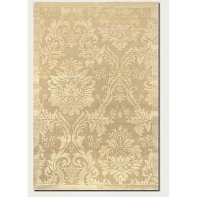 Couristan Impressions 8 x 10 Antique Damask Gold Ivory 8064/0264