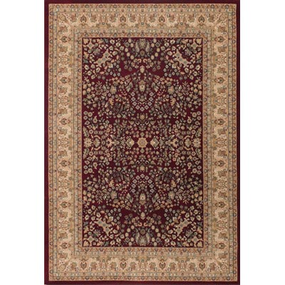 Couristan Izmir 5 x 8 Floral Mashad Persian Red 7018/0002