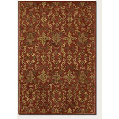 Couristan Jalore 5 x 8 Arabesque Blossom Rust 1777/0023
