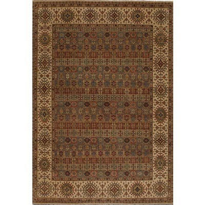 Couristan Jangali 9 x 13 Arabesque Tile Multi Cream 0147/0045