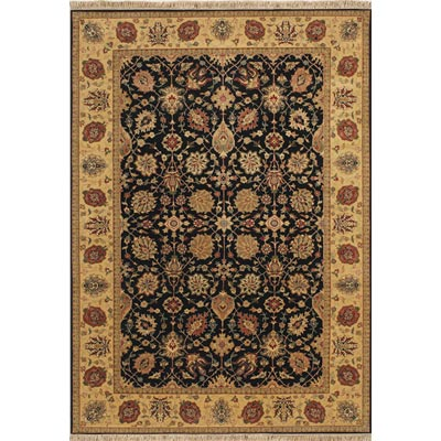 Couristan Jangali 9 x 13 Lylyan Charcoal Brushed Gold 0478/0111