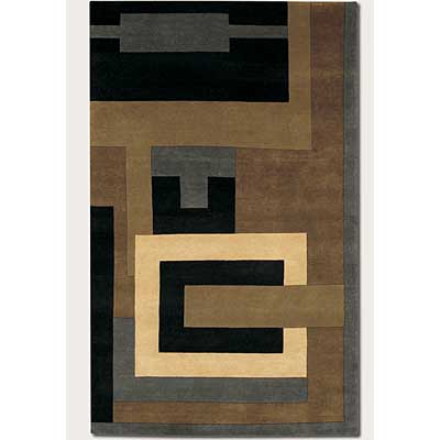 Couristan Kathmandu 5 x 8 Fragments Multi Color Khaki 0082/0718