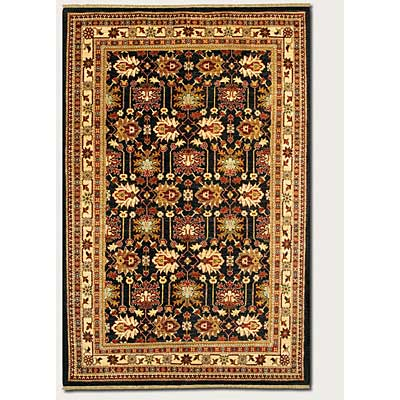 Couristan Lahore 8 x 12 Antique Kazak Black Ivory 1266/2568