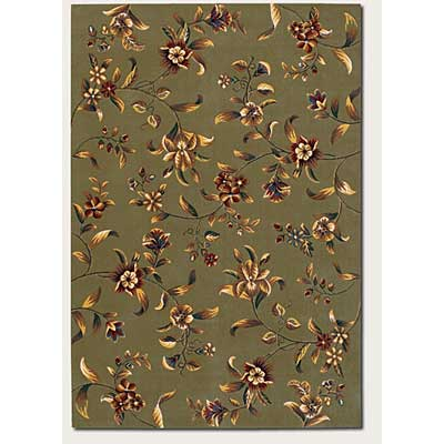 Couristan Lotus Garden 3 x 9 Runner Budding Lily Sage 0346/0620